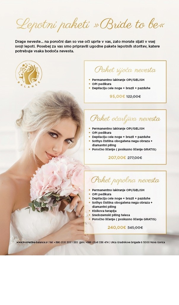 "Lepotni paketi ""Bride to be"""